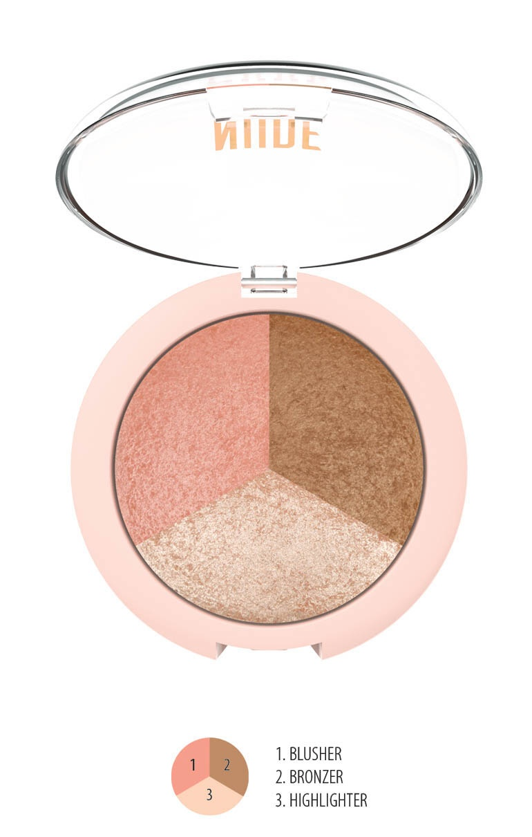 NUDE LOOK Baked Trio Face Powder 3v1
